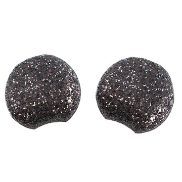 "Black - 2.75"" Chunky Glitter Mouse Ears"