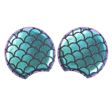 "Blue Iridescent Mermaid - 3.25"" Padded Mouse Ears"