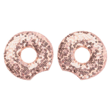 "Rose Gold Donut - 3.25"" Sequins Mouse Ears"