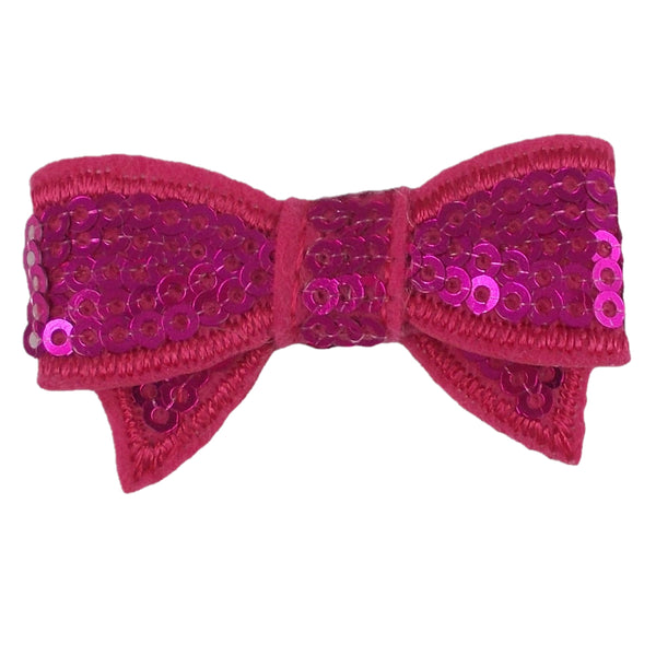 "Magenta - 1.75"" Mini Sequin Bow"