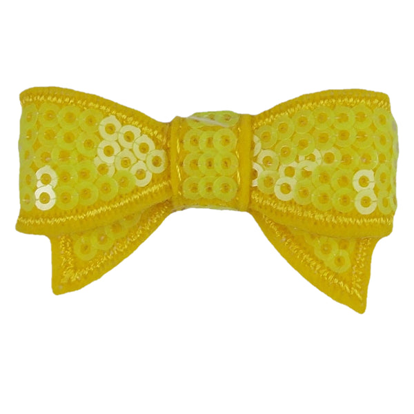 "Yellow - 1.75"" Mini Sequin Bow"