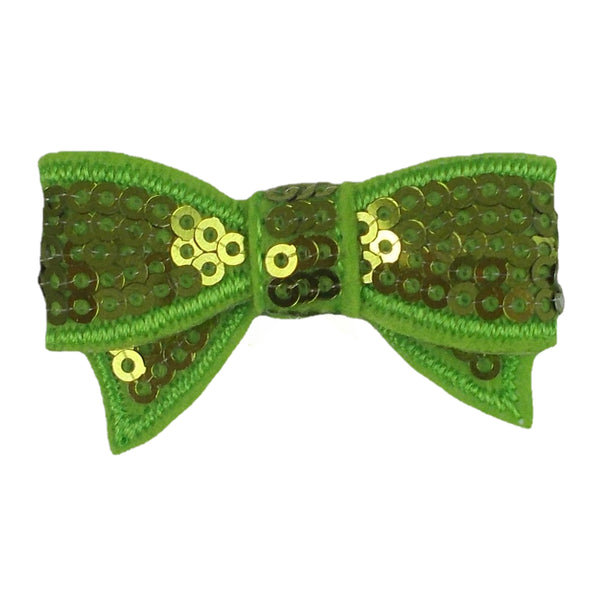 "Lime Green - 1.75"" Mini Sequin Bow"