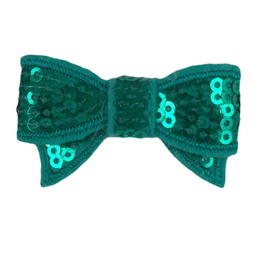"Aquamarine - 1.75"" Mini Sequin Bow"