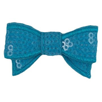 "Blue - 1.75"" Mini Sequin Bow"