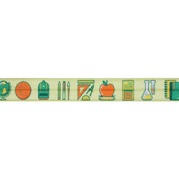 "Back to School - 5/8"" Printed Fold Over Elastic"