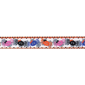 "Itsy Bitsy Spider - 5/8"" Printed Fold Over Elastic"