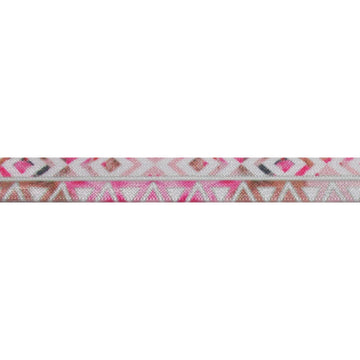 "Beach Aztec - 5/8"" Printed Fold Over Elastic"