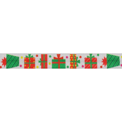 "Holiday Presents -  5/8"" Printed Fold Over Elastic"