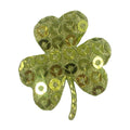 "Green Sequin Shamrock - 1"" Padded Applique"