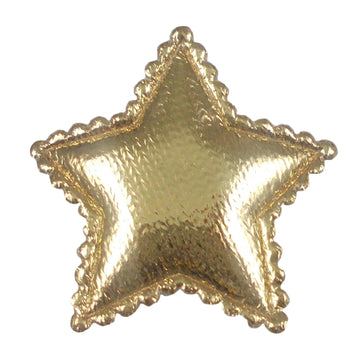 "Gold Satin Star - 1"" Padded Applique"