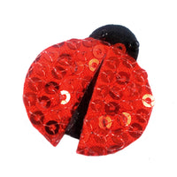 "Sequin Ladybug - 1"" Padded Applique"