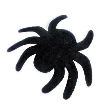 "Black Felt Spider - 2"" Padded Applique"