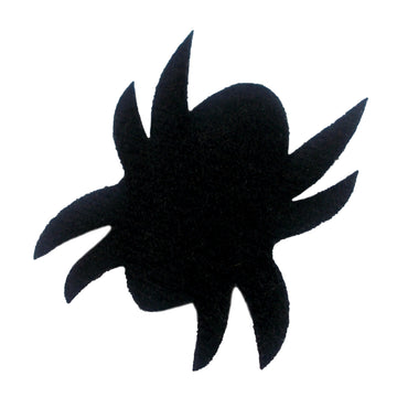 "Black Felt Spider - 1.5"" Padded Applique"