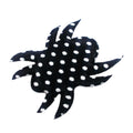 "Black & White Polka Dot Spider - 1.5"" Padded Applique"