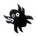 "Black Sequin Spider - 1.5"" Padded Applique"