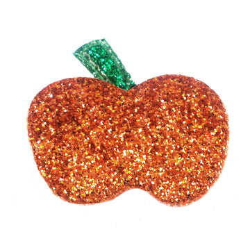 "Glitter Orange Pumpkin - 1"" Padded Applique"