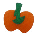 "Felt Orange Pumpkin - 1"" Padded Applique"