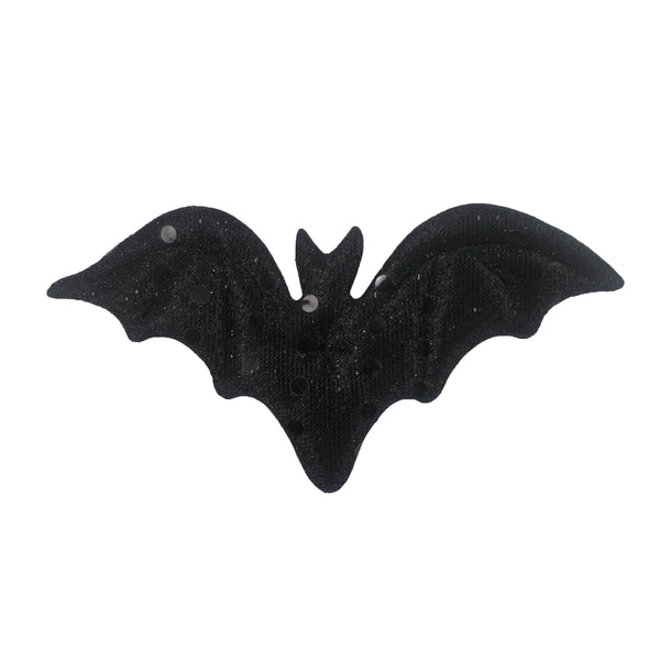 "Large Black Bat - 4.5"" Padded Applique"