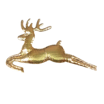 "Gold Reindeer - 1.75"" Padded Applique"