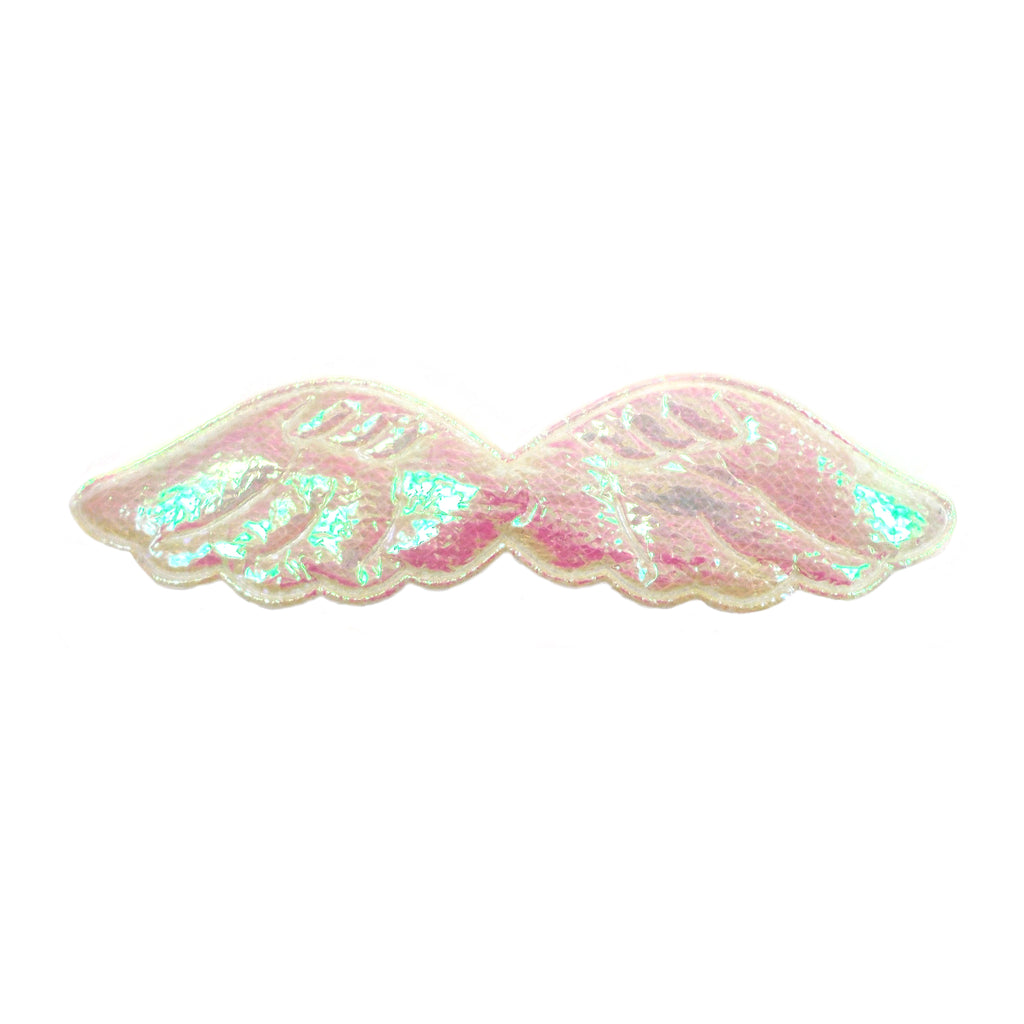 "Iridescent Angel Wings - 1"" Padded Applique"