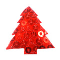 "Red Sequin Christmas Tree - 1"" Padded Applique"