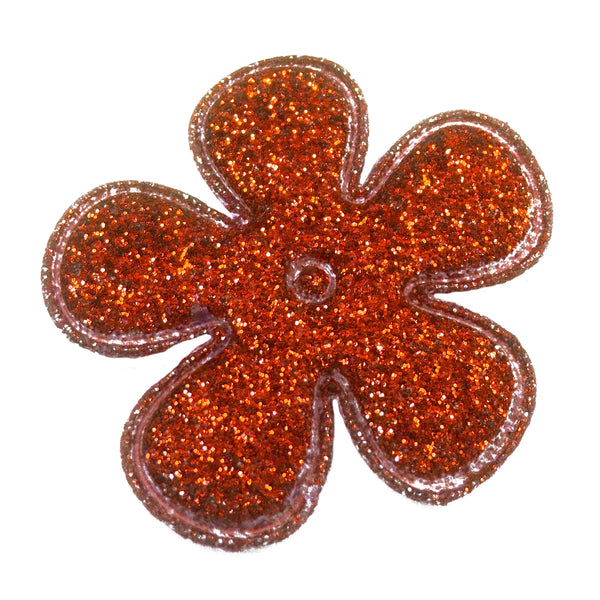 "Red Glitter Flower - 1.5"" Padded Applique"