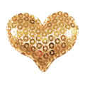 "Gold Sequin Heart - 1.5"" Padded Applique"