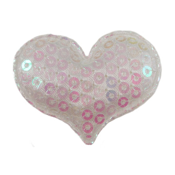 "Iridescent Sequin Heart - 1.5"" Padded Applique"