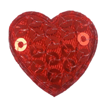"Red Sequin Heart - 3/4"" Padded Applique"