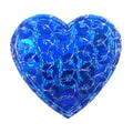 "Royal Blue Sequin Heart - 3/4"" Padded Applique"