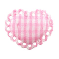 "Light Pink Gingham Heart - 1"" Padded Applique"