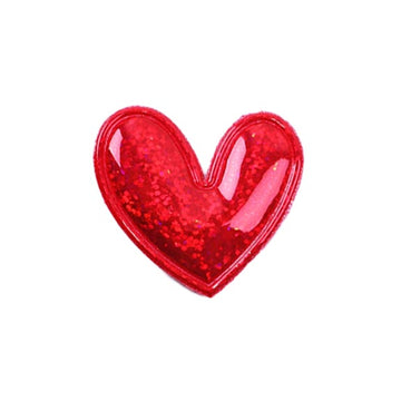"Red Hologram Heart - 2"" Padded Applique"