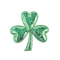 "Green Hologram Shamrock - 2.25"" Padded Applique"