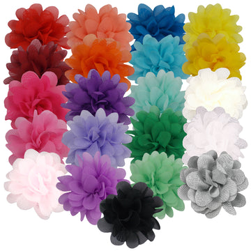 "Grab Bag - 2.5"" Petite Chiffon Puff - 10 Flowers"