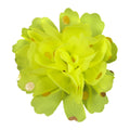 "Chartreuse - 2.5"" Gold Dot Chiffon Flower"