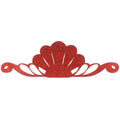 "Red - 8"" Felt & Glitter Seashell Crown"