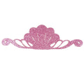 "Pink - 8"" Felt & Glitter Seashell Crown"