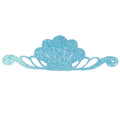 "Blue - 8"" Felt & Glitter Seashell Crown"