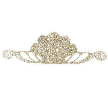 "Gold - 8"" Felt & Glitter Seashell Crown"