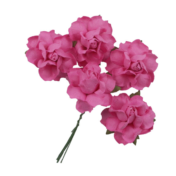 "Pink - 1.25"" Mulberry Paper Flowers"