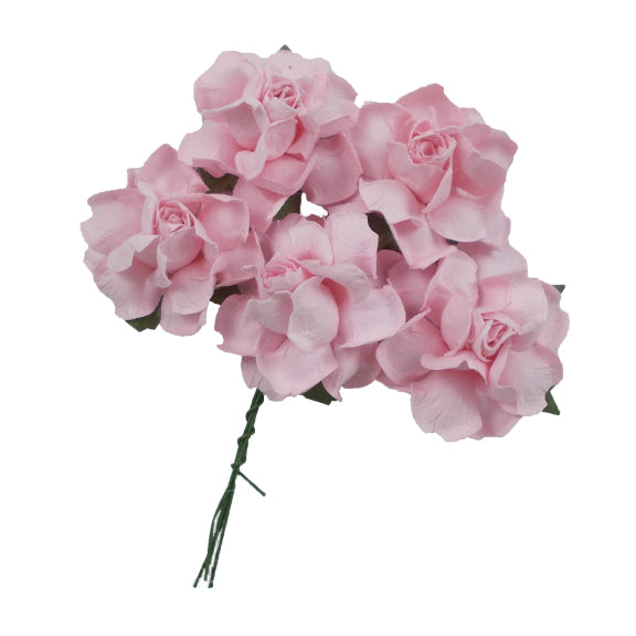 "Light Pink - 1.25"" Mulberry Paper Flowers"
