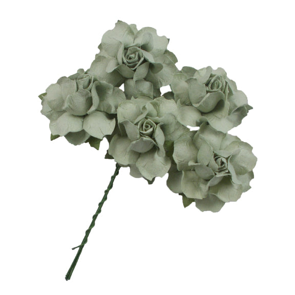 "Sage Green - 1.25"" Mulberry Paper Flowers"