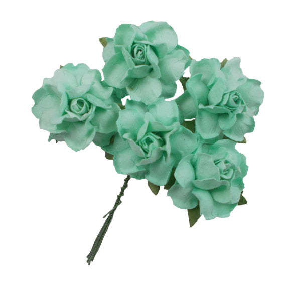 "Seafoam - 1.25"" Mulberry Paper Flowers"