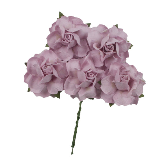 "Lavender Pink - 1.25"" Mulberry Paper Flowers"
