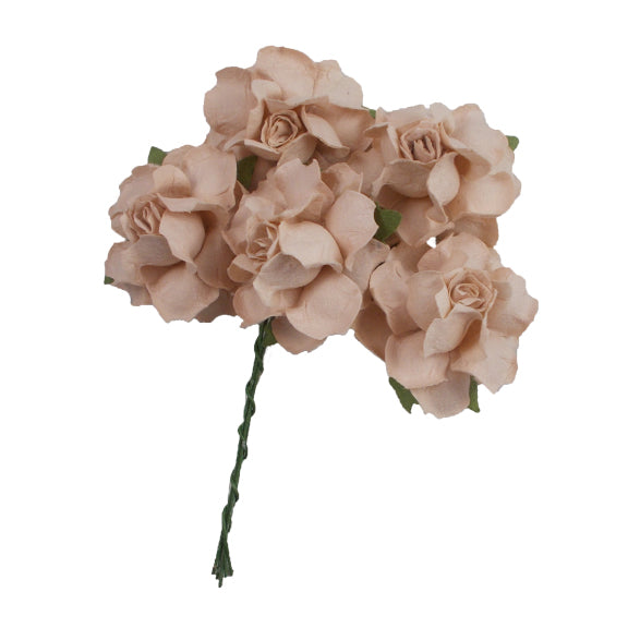 "Sand - 1.25"" Mulberry Paper Flowers"