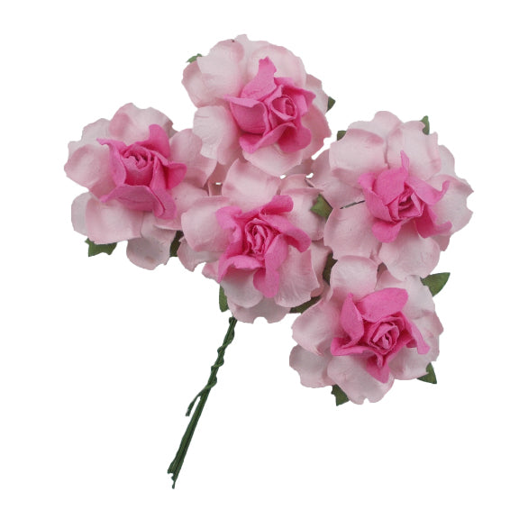 "Light Pink & Pink - 1.25"" Mulberry Paper Flowers"