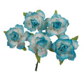 "Blue Dipped - 1.25"" Mulberry Paper Flowers"