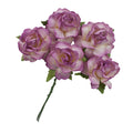 "Antique Plum Dipped - 1.25"" Mulberry Paper Flowers"