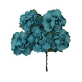 "Aqua - 1.25"" Mulberry Paper Flowers"