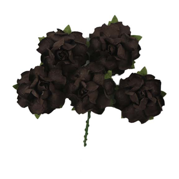 "Espresso - 1.25"" Mulberry Paper Flowers"